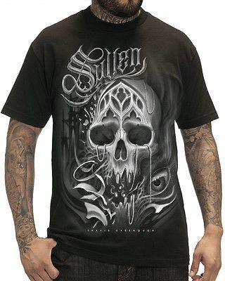 Sullen-Kleidung-Surreal-Orden-Herren-T-shirt-Schwarz-Totenkopf-Tattoo-Gotik