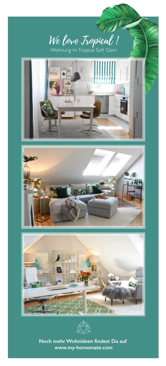 Ich Liebe Diese Wohnung! Tropischer Soft Glam In Der Maisonette Wohnung.  Grün, Türkis