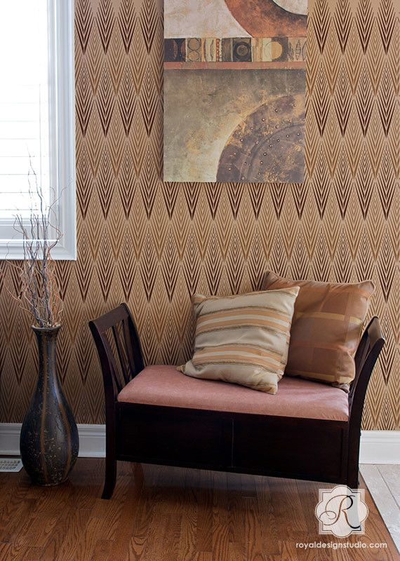 A Gorgeous Tribal Inspired Stencil With An Art Deco Vibe, The African  Plumes Raven