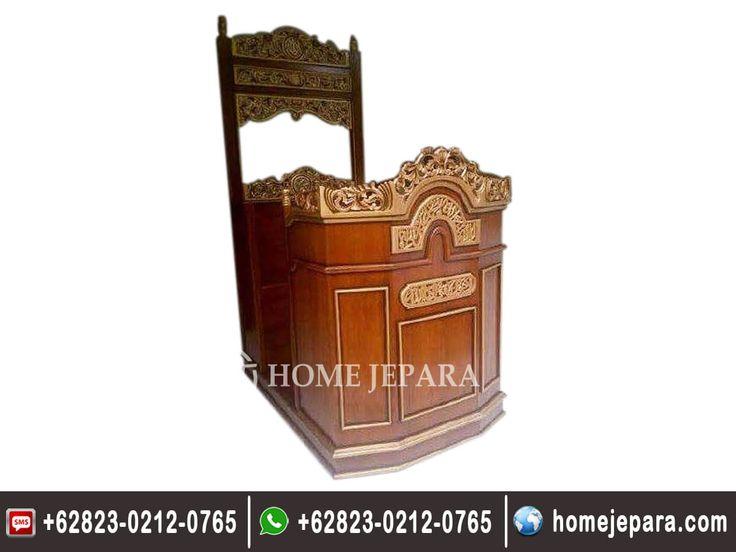 Desain Mimbar Masjid Kereta, Aneka Mimbar Masjid Kereta, Harga Mimbar Masjid Kereta, Model Mimbar Masjid Kereta, Gambar Mimbar Masjid Kereta, Jual Mimbar Masjid Kereta