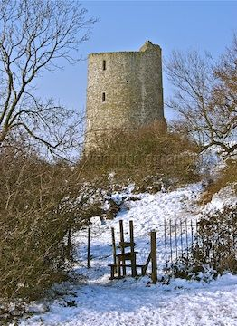 The ruins of Hadley Castle, Essex, England, built in the 13th century by Hubert de Burgh