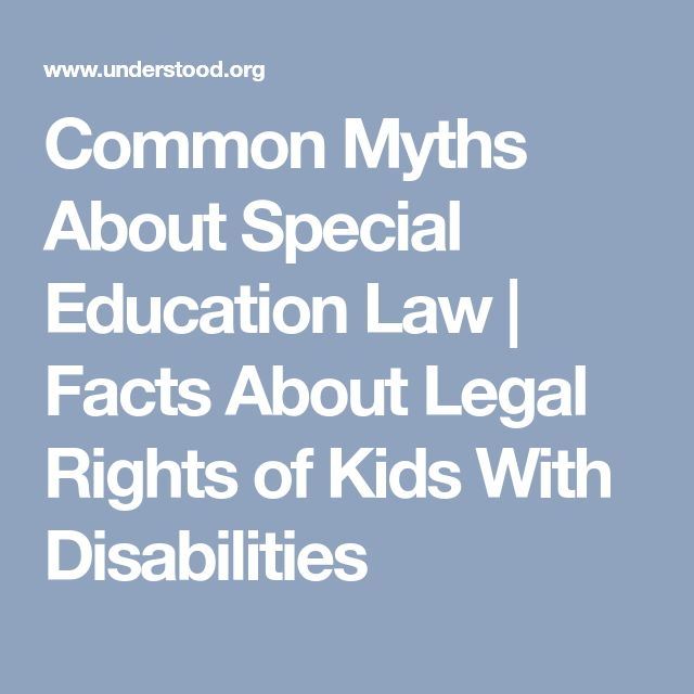 6 Myths About 504 Plans   Special education law, Education ...