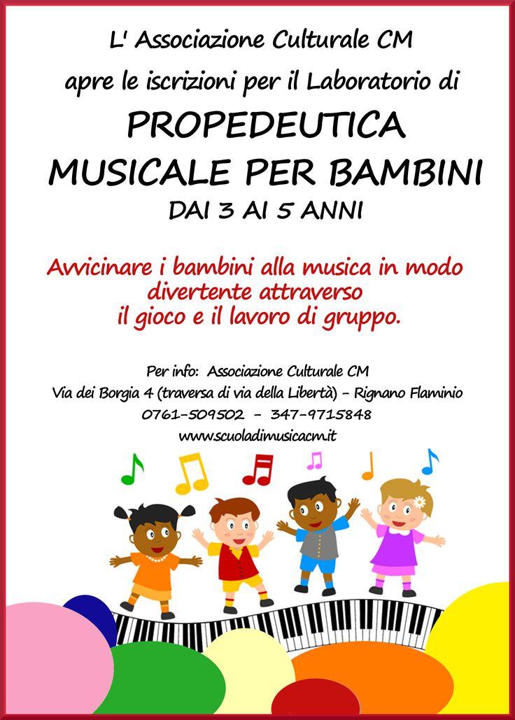 propedeutica musicale per bambini dai 3 ai 5 anni di età. per info: www.scuoladimusicacm.it