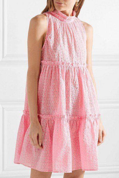 b99b83f01e3 Lisa Marie Fernandez erica ruffled broderie anglaise cotton mini dress.   lisamariefernandez