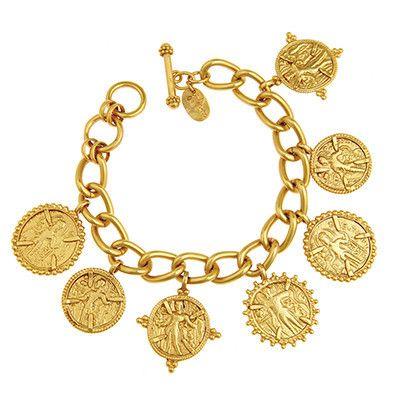 Coin Charm Bracelet 24k Gold Plate Julie Vos Wristful Of Fancies ღ Pinterest Bracelets Jewelry And Charmed