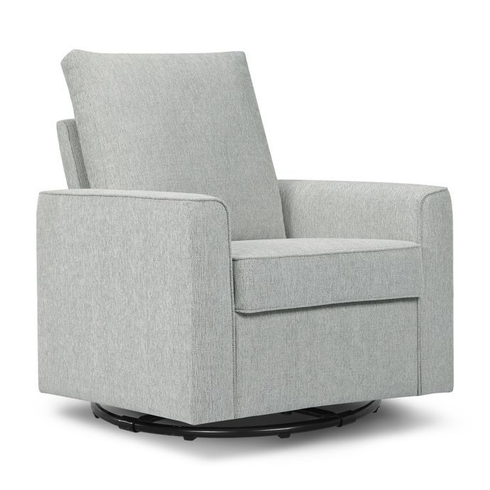 Pleasant Million Dollar Baby Alden Swivel Glider In Feather Grey Pabps2019 Chair Design Images Pabps2019Com