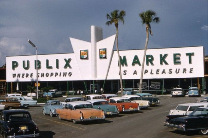 Sarasota, Florida, 1961. This is just like my old market in College Park.