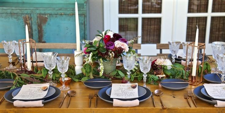 This Modern And Romantic Bridal Shower Is The Dinner Party Of Your Dreams - ELLEDecor.com