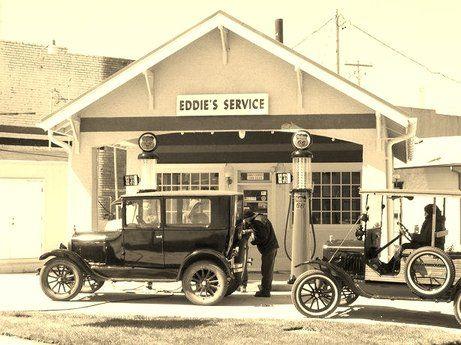 Model T Ford Forum: Old Photo - Model T Era JEFF'S Filling Station
