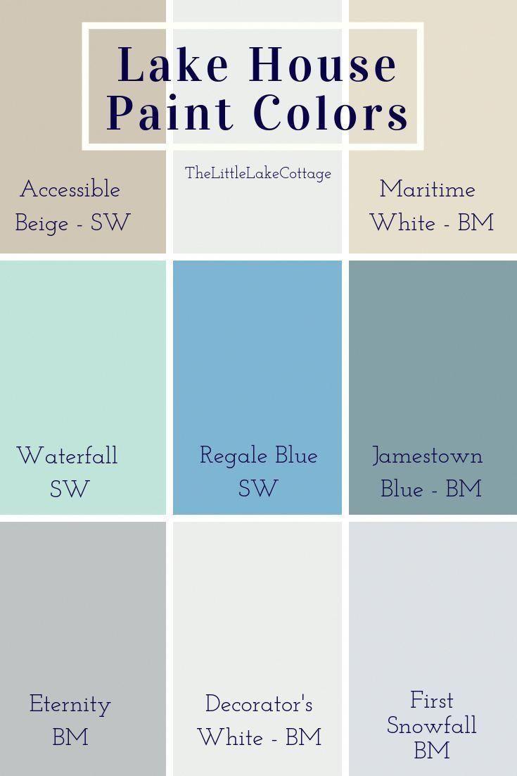 Bright Blues And Calming Neutrals Used Inside Our Lake House We