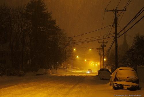 Tormenta de nieve. Norwalk Connecticut