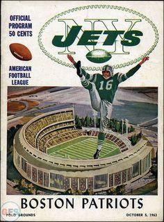 AFL Game Program: New York Jets vs. Boston Patriots (October 5, 1963)
