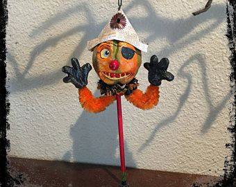 Acorn Cottage Collectibles Halloween Rattle Ornament Pumpkin Pirate FREE SHIPPING