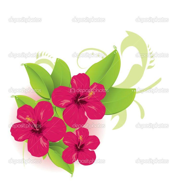 jungle flower clip art...
