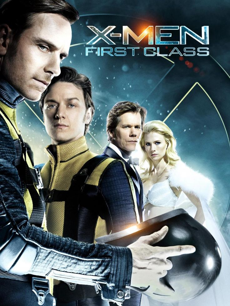 X-Men: First Class (2011) PG-13 - Stars: James McAvoy, Michael Fassbender, Jennifer Lawrence.  -  In 1962, the United States government enlists the help of Mutants with superhuman abilities to stop a malicious dictator who is determined to start World War III.  -  ACTION / ADVENTURE / SCI-FI