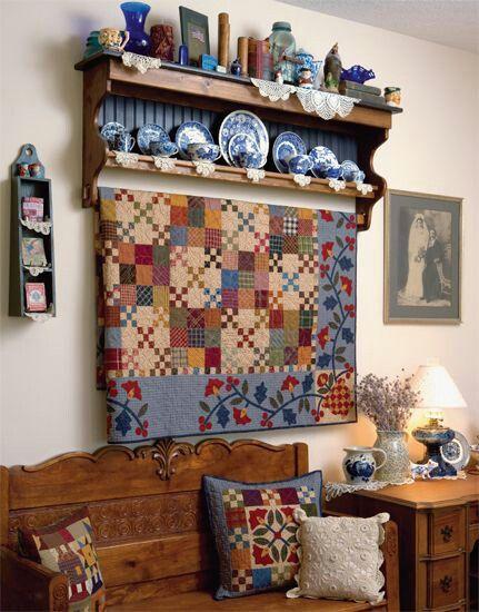 Wonderful Kim Diehl quilt; I think it's called Garden Patch
