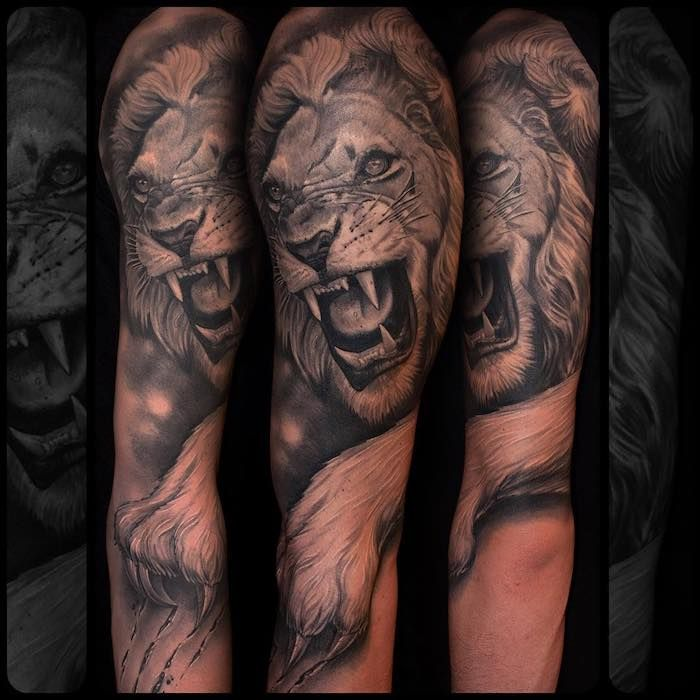 1001 Coole Lowen Tattoo Ideen Zur Inspiration Inspiring