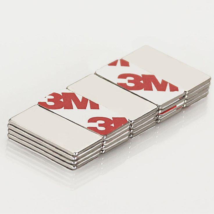 Neodym Magnet Extrem N42 20 x 10 x 1 mm in Magnete  • Selbstklebende Magnete