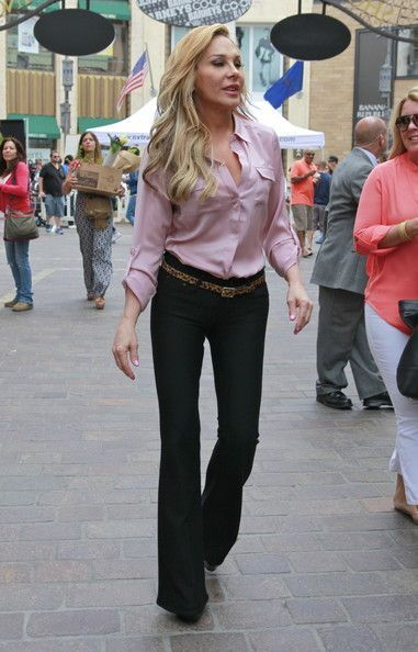 Adrienne Maloof of Real Housewife of Beverly Hills makes an appearance at the 'The Grove' in Los Angeles