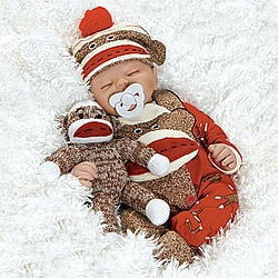 Sock Monkey Baby Doll  Look who's dreaming of monkey business!