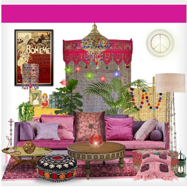 Bohemian interior#1 by ilona2010 on Polyvore featuring interior, interiors, interior design, maison, home decor, interior decorating, Ambella, Threshold, Jayson Home and CO