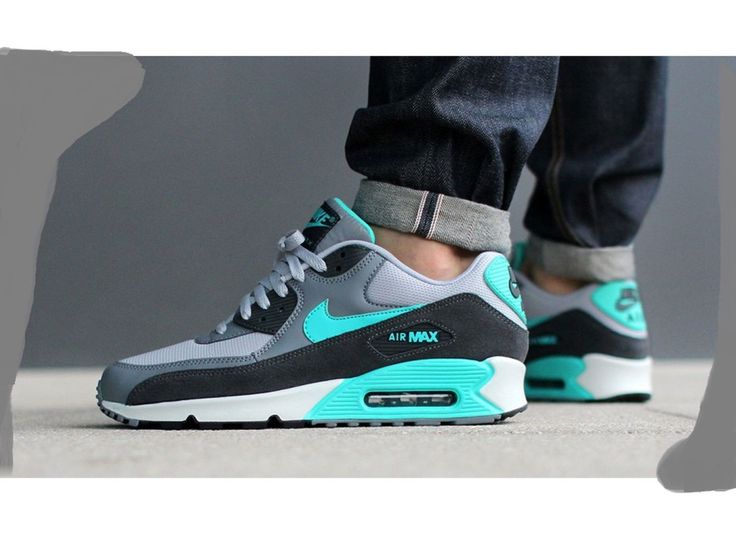 cheap for discount 9507c b6240 ... NIKE AIR MAX 90 ESSENTIAL HYPER JADE COOL GREY 537384 033 135 ...