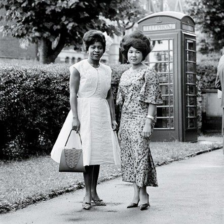 Wedding guests, London, 1960s (1963?), photograph by the Ghanaian photographer James Barnor