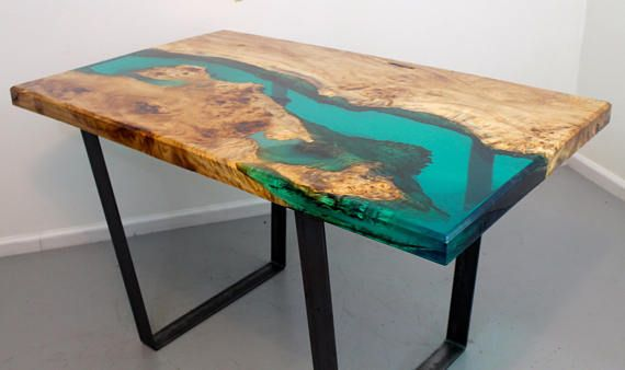 Resin River Dining Table Etsy Wood Resin Table Resin
