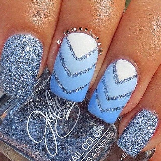 Pretty Blue Nails/ lindas uñas azules
