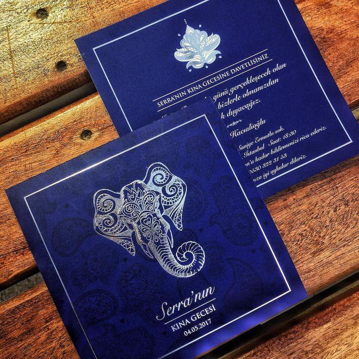 Hint Temalı Kına Gecesi Davetiyesi - Indian/Moroccan Henna Invitation with Elephant . . . #davetiye #kinadavetiyesi #kinagecesi #hennanight #savethedate #wedding #weddinginvitation #hochzeit #hochzeitskarten #bruiloft #braut #einladungskarten #hochzeitstag