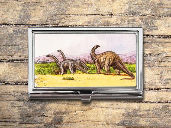 Dinosaur Business Card Case - Vintage Dinosaurs - Card Holder