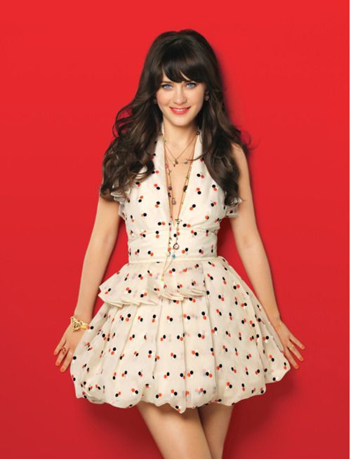 Zooey Deschanel is my Favorite Actress! Lover her music, her amzing vintage style and wit! It's rare to see someone who acts and sings and does both with grace and class.