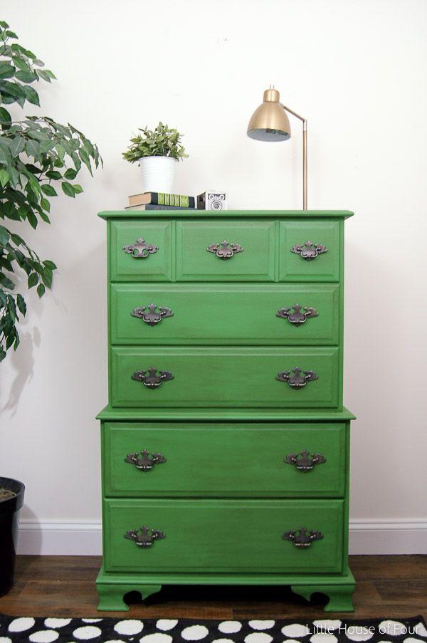 Emerald Green Dresser Makeover Dresser Makeovers Emerald Green And Green Dresser