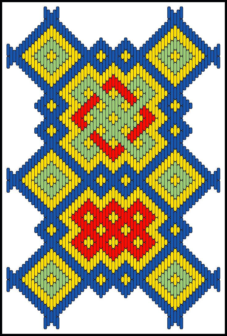 Here it is, the preliminary version of Pattern #21. Although larger than many other designs, it is a repeat. Once the first repeat is stit...