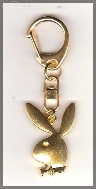 Playboy Bunny Charm Swivel Keyring  by MadAboutIncense - $8.50