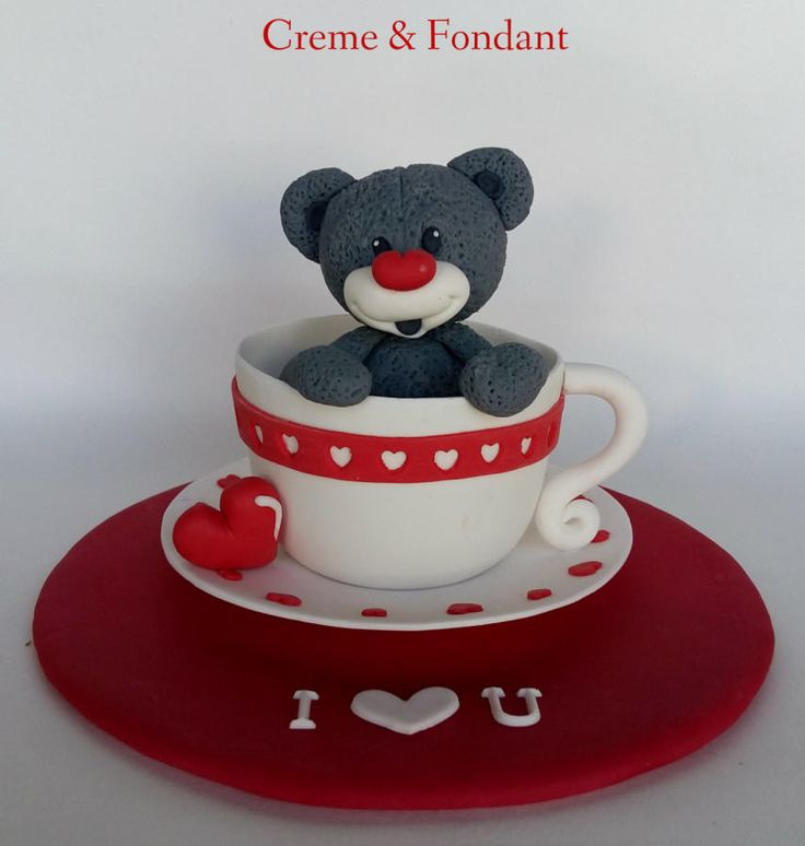 Teddy in love . by Creme & Fondant