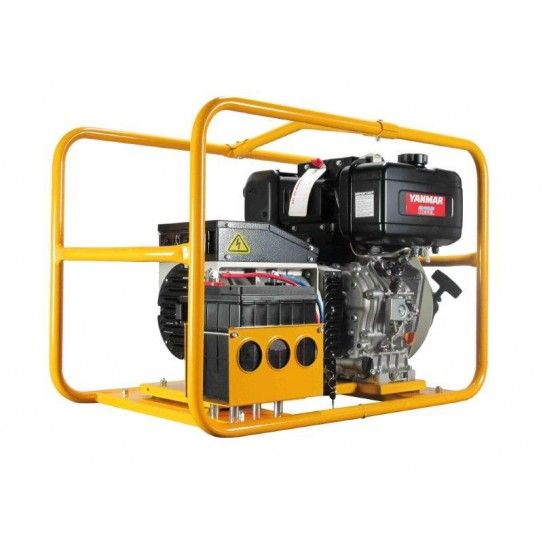 Yanmar Powered Diesel 7 KVA, Recoil Start, ROF. 6,000W continuous Diesel Powerlite Generator, powered by Yanmar with recoil start. Ideally used for portable electric tools, small machines, electric pump up to 1.5kW, air compressor, brick saw, pressure washer, lights and household appliances, provided that the total power consumption at any one time is less than 6,000W.
