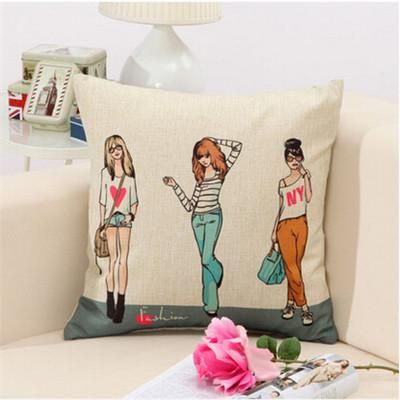 How To Wash Throw Pillows Without Removable Cover Rubihome Fashion Modern Girls Back Cushion Without Inner Home Decor