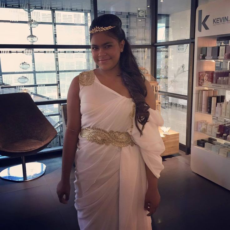 The gorgeous hair and makeup transformation done by Midori today for a Grecian themed party!! Too beautiful.... To book hair and makeup for your next event call us on 0117843488/7894.