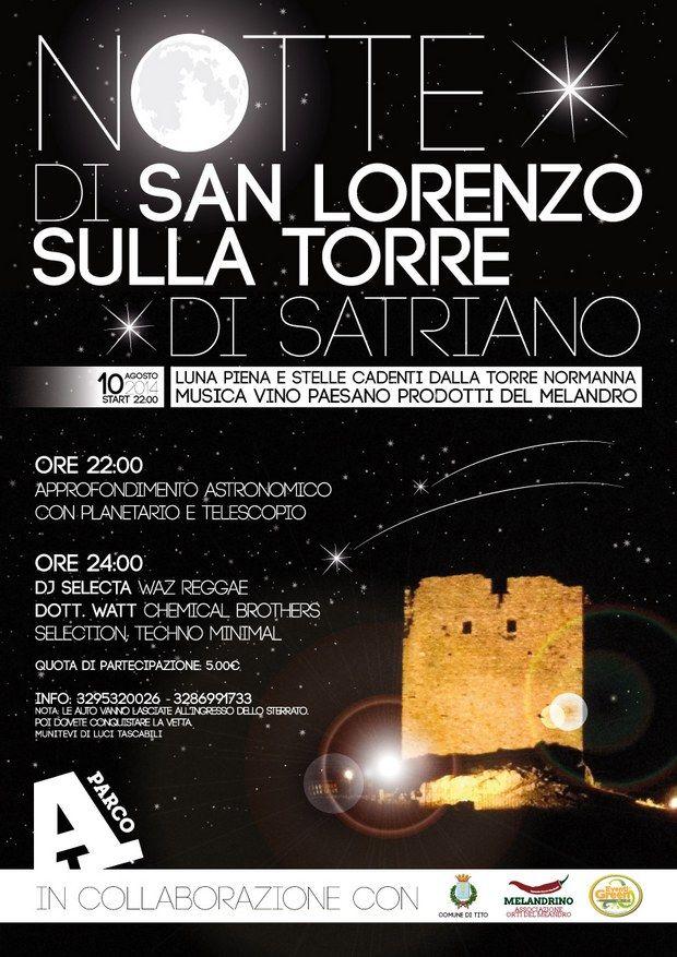 Notte di San Lorenzo sulla Torre di Satriano