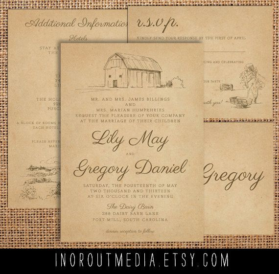 127 best Country Wedding Invitation images on Pinterest Country
