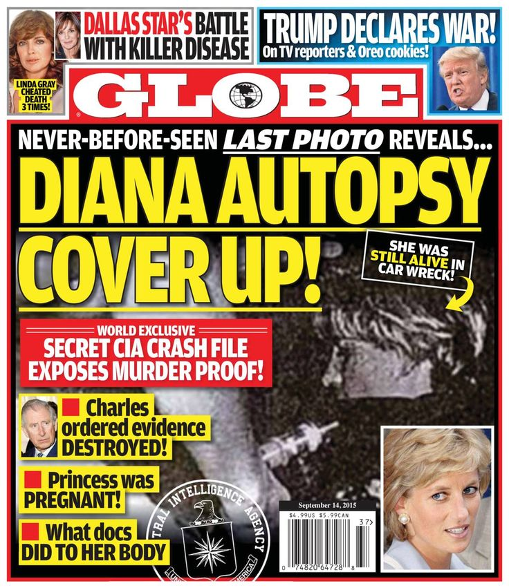 Free Download Globe #Magazine - September 14 2015. NEVER-BEFORE-SEEN LAST PHOTO REVEALS..DIANA AUTOPSY  COVER UP! - SHE WAS STILL ALIVE IN CAR WRECK.    SECRET CIA CRASH FILE EXPOSES MURDER PROOF! - Charles  ordered evidence DESTROYED, Princess was PREGNANT! and W #Globe #globemagazine #gossipmagazine #entertainmentnews #entertainment #stars #famous #Hollywood #scandal