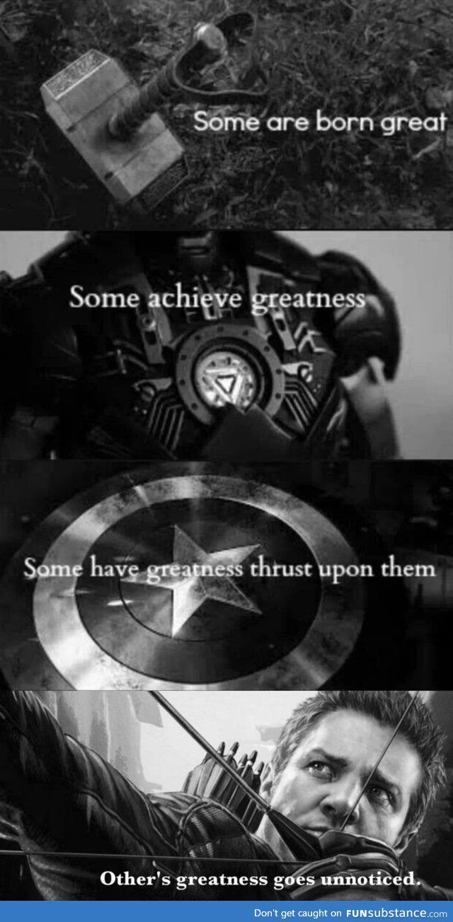 Because Hawkeye matters too