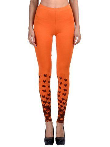 908d56d95faa52 Femmora Orange Ankle Length Leggings - | 1049 | Leggings & Jeggings ...