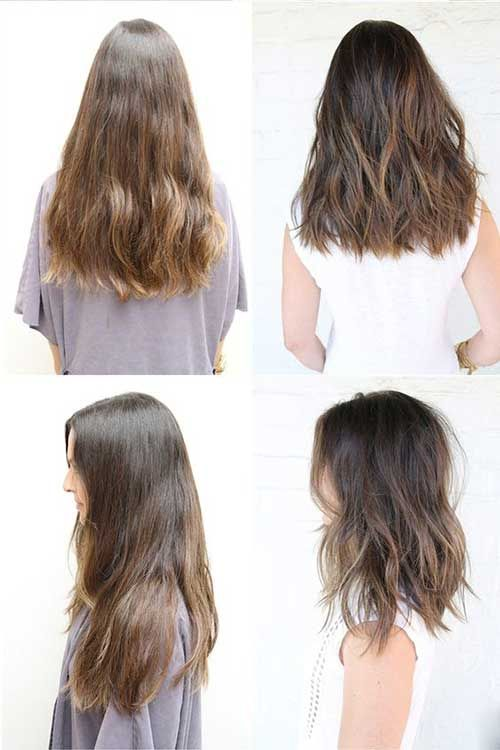 how to layer cut medium length hair