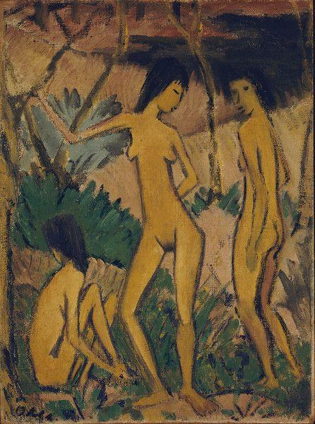 Otto Mueller, Drei Akte in der Landschaft, 1922, Brücke-Museum Berlin
