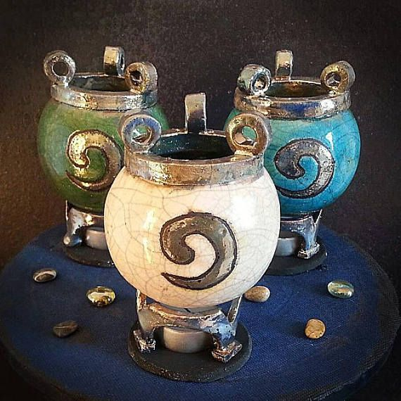 quemador de aceites esenciales cerámica Caldero Chorreante