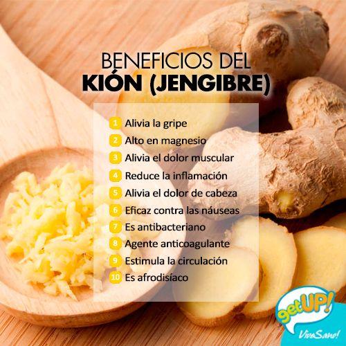 Beneficios del kión - jengibre