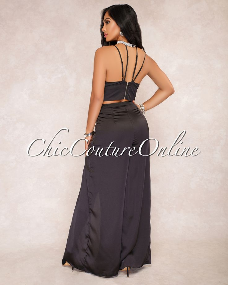 Chic Couture Online - Sassa Black Jeweled Choker Two Piece Set ,  (http://www.chiccoutureonline.com/sassa-black-jeweled-choker-two-piece-set/)