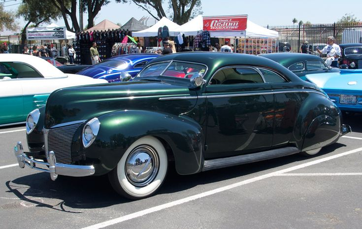 1940 Mercury coupe Kevan Sledge, Grass Valley, California Kevan brought his '40 Merc to Santa Maria a couple of years ago in green satin paint. He returned this year with the classic taildragger fully finished. The timeless Matranga-style custom is powered by a dual carb-equipped flathead. Look for a feature in TRJ in the not too distant future.